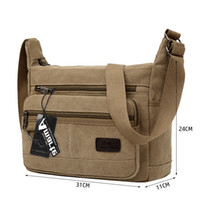 Wholesale big brown canvas shoulder bag resale online - Amarte New Fashion Vintage Men Canvas Handbags High Quality Men Shoulder Bags Male Big Capacity Messenger Bags Y19052701