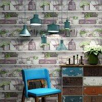 decoración de la tienda de ropa al por mayor-Estilo coreano papel tapiz fresco dormitorio café restaurante hotel salón de belleza tienda de ropa tienda de flores decoración murales de pared 3d