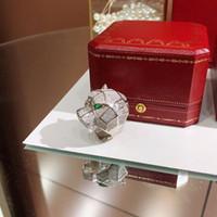 ingrosso gioielli in oro placcato italina-Designer di moda PUNK S925 in argento sterling e zircone cubico pavimentato anello leopardo gioielli PARTY da donna o da uomo