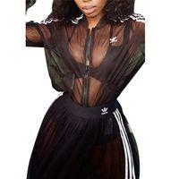 uzun etek hırka toptan satış-Kadınlar tasarımcı marka 2 parça elbiseler güz seksi kulübü Hırka etekler eşofman uzun kollu dış giyim a-line kıyafetler ceket bodysuits 1453