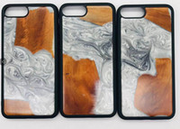 ingrosso casi molto telefonici-Caso di legno nuovo molto popolare in legno + resina Casi di legno per Iphone 7 8 PLUS X Xs max Xr Phone 11 Pro 5.8 6.1 6.5 Cellulare Shell di legno di bambù