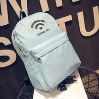 mochilas personalizadas al por mayor-Sleeper # 502 2019 NUEVO Hombres Mujeres Lienzo Personalizado WiFi Impresión Mochila Bolsos de hombro mochila escolar niña niño Envío gratis