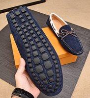 zapatos de cuero para hombre a pie al por mayor-A estrenar Louise Mens holgazanes Casual Walk mocasín-gommino banda de elástico de cuero impermeable zapatos de negocios EU38-45