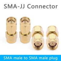 Wholesale sma plug connector for sale - Group buy SMA JJ Male To Male Plug RF Connector Coupler Straight Coaxial Adapter Hot Sale