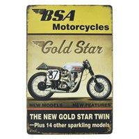 señales de bicicleta al por mayor-40 estilo moto de la motocicleta del Craft Cartel de chapa retro del metal Pintura Hierro Cartel antiguo Café Bar signos pared del arte de la etiqueta engomada