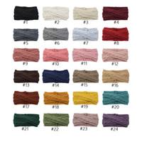 kopfbedeckung 24 groihandel-Freies DHL 24 Farben Strickstirnband Turban Crochet Twist Kopfbedeckung Winter-Ohr-Wärmer Headwrap elastischer Haar-Band-Frauen-Haar-Zusätze