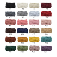 Wholesale flower hair accessories crochet resale online - INS Colors Knitted Headbands Turban Crochet Twist Headwear Winter Ear Warmer Headwrap Elastic Hair Band Women Hair Accessories