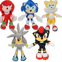 Wholesale sonic movie toys resale online - 23cm Sonic Movies TV Game Plush Doll Toys hot toy