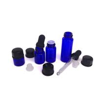 yağ camı pompa şişesi toptan satış-Boş pompa losyon şişesi ile uçucu yağ için cam damlalık, kozmetik cam kavanozlar / krem için damlalık ile ambalaj / serum / toner / Balmumu