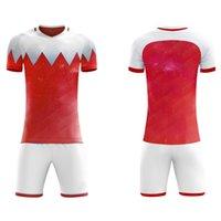camisetas de fútbol v al por mayor-Camiseta de fútbol de manga corta en blanco para niños camiseta de fútbol con cuello en v juvenil uniformes de fútbol para niños kits de fútbol personalizar cualquier logotipo