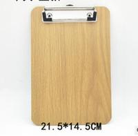 modelo de tamaño natural esqueleto al por mayor-Portapapeles A5 de madera Papelería Tienda Clip Carpeta de madera Tablero de escritorio Dibujo de archivo Cojín de escritura Escuela Herramienta de accesorios de la oficina Kit de artículos
