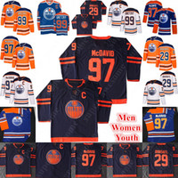 Wholesale youth connor mcdavid jersey resale online - Edmonton Oilers Connor McDavid Jersey Leon Draisaitl Wayne Gretzky Hockey Jerseys Men Women Youth Orange White NEW Third Navy