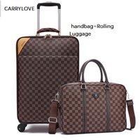 18-дюймовый багаж оптовых-CARRYLOVE мода 16/18/20/22/24 дюйма размером бизнес сумка для посадки багажа багажа + Rolling Luggage Spinner бренд дорожный чемодан
