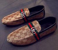 ervilhas venda por atacado-Sapatos masculinos dos homens casuais estilista de cabelo carta de impressão dos homens ervilhas sapatos designer de sapatos 705