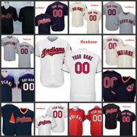 camisolas venda por atacado-Costume 2019 índios Costurado Jersey Mens 12 Francisco Lindor 99 Rick Vaughn Cleveland 7 Kenny Lofton Todos Costurado Camisas Bordadas