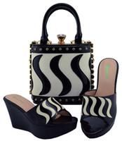 дорожные сумки для обуви оптовых-2018 горячая продажа Африканская обувь и сумка установить лучшую цену для Нигерии свадебная обувь и сумка в Elegent случаю