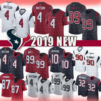 hopkins maillot achat en gros de-4 Deshaun Watson 99 J.J. Watt Texans Jersey Houston 2019 nouveaux Texans Limités 10 DeAndre Hopkins 87 Demaryius Thomas Clowney Football Hommes