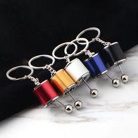 Wholesale leather gear shifts for sale - Group buy Gear Knob Keychains Car Keyring Gear Shift Stick Box Metal Key Chain Keyfob Car Ornament Fashion Key Ring GGA3089