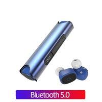 auriculares negros rojos al por mayor-2019 NUEVO Auriculares Bluetooth TWS a prueba de agua Auriculares Auriculares estéreo inalámbricos verdaderos Auriculares deportivos Negro Rojo Azul