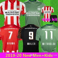 erkek xl toptan satış-2019 20 PSV Eindhoven BRUMA Malen Home PEREIRO LOZANO soccer jerseys kids kit camisa maillot de football shirt   third camisetas de fútbo