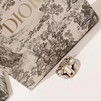 ohr gold ring für frau großhandel-Qualitätsschmucksacheringe Double-faced Weizenähren Blattkristallringart- und weiseschmucksachefrauenringe Goldsilberner Schmucksache-Liebhaber-Geschenk AI-2