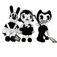 bonecas de jogo venda por atacado-jogo quente 3 estilos 30cm bonecos de pelúcia Bendy Dog Bendy eo Bundi Tinta e bonecas menina máquina de tinta presente interessante para as crianças