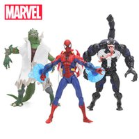 Wholesale 18cm Marvel Toys Spider man Venom Lizard Carnage Pvc Action Figure Spiderman Figures Superhero Collectible Model Doll Toy Q190522