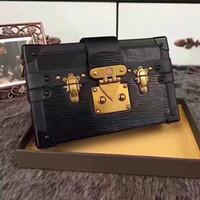 Wholesale satchel resale online - 2020 Hot Selling Luxury Handbags Evening Bags Leather Fashion Box designer Clutch Brick Famous Messenger Shoulder Bag Petite Malle