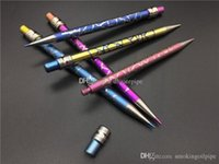 New Color Pencil GR2 Titanium Dabber Tool For Oil And Wax Dry Herb Domeless Titanium Nails Glass Bongs Water Pipes