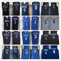 jersey azul royals al por mayor-NCAA Duke Blue Devils # 3 Allen 4 Redick 0 Tatum 14 Ingram 1 Irving Grayson JJ Jayson Brandon Kyrie royal white black Jerseys