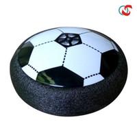 ingrosso potenza aerea per il giocattolo-Novità Air Power Soccer Disc Calcio sospeso con paraurti in EVA LED illuminato Hover Disk Scivolante Palla Giocattolo per bambini per interni ed esterni