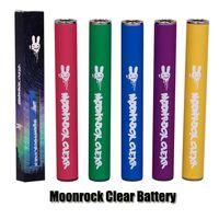 vape führte batterie leuchtet großhandel-Moonrock Clear Batterie 350mAh 10.5mm 510 Bud Touch LED Licht Batterie Vape Pen Für Bobby Blue Razzle Dazzle Carts 510 Cartridge