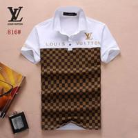 tshirt markenverkauf großhandel-heißer Verkauf neuer Art und Weisemens T-Shirt Sommerkurzschluß hochwertige Baumwolle POLO Hemden berühmte Entwerfer nageln passende T-Shirt Männer 10 ein