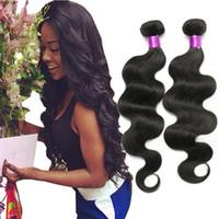 Wholesale 6a unprocessed weave for sale - 4 Bundles Brazilian Body Wave Human Hair A Brazilian Virigin Hair Body Wave Unprocessed Brazilian Human Hair Bundles Brazillian Body Wave