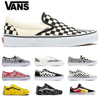 Wholesale sneakers sports pink girl resale online - Original Vans Old Skool Men women Casual shoes Skateboard boy girl designer Sports Running Shoes Canvas Sneakers size