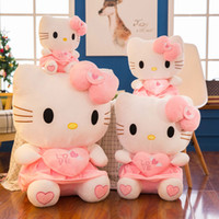 Wholesale valentines stuffed animals for sale - 2019 new arrival KT cat plush toy Stuffed Animals Hello Kitty girl pillow dolls Valentine gift