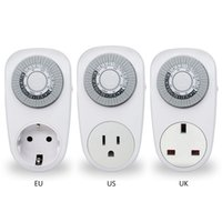 Wholesale timer outlet for sale - Group buy EU US UK Plug Hour Timer Switch Socket Programmable Mechanical Electrical Outlet Program Timer Power Switch Converters
