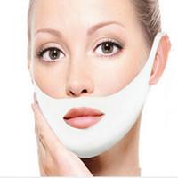 Wholesale face lift belt resale online - Facial Thin Face Mask Slimming Bandage Belt Shape Lift Reduce Double Chin Face Mask Face Thining Band