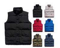 lüks ceketler erkekler toptan satış-Lüks Aşağı Ceket Parka Kanada Mens Tasarımcısı Ceket Yelek Bay Bayan Yüksek Kalite Kış Aşağı Erkek Tasarımcı Kat Kabanlar
