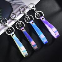 gummi schlüsselanhänger niedlich großhandel-Kreative Blenden Auto Schlüsselanhänger PVC Laser Schlüsselband Schmuckstück Weichgummi Schlüsselanhänger Nette Puppen Handytasche Zubehör