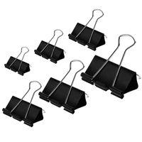 ingrosso grandi morsetti-Binder Clips Paper Clamps Taglie assortite 100 Count (Nero), X Large, Large, Medium, Small, X Small e Micro, 6 Taglie in One P