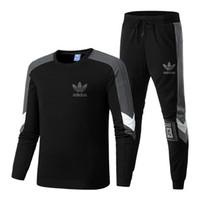 sweat mens hoodies xl zippé achat en gros de-Survêtements Designer Hommes Marque Designer Sport TopsPants Combinaisons Logo Mode Automne Hommes Hoodies Marque Sweat Zippés Vêtements Pour Hommes