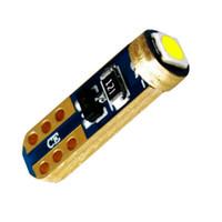 süper parlak ledli ışıklar t5 toptan satış-10 Adet T5 W1.2W W3W 74 206 Süper Parlak 3030 LED Araç İç Işık CANBUS Oto Yan Kama Dashboard Göstergesi Gösterge Lambası Ampul