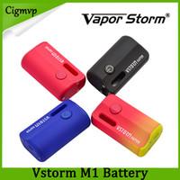 Wholesale vv starter for sale - Group buy Authentic Vapor Storm M1 Starter Kit mAh Vstorm Vapor Large Lipo Discreet VV Battery with ml Thick Oil Cartridge Original DHL