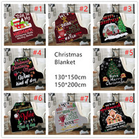 decken für kinder großhandel-Weihnachten neue Doppel dicke Decke 3D Digitaldruck Decke Sofa tragbare Decke Platz Kinder mit Kapuze Decken Weihnachten Muster A04
