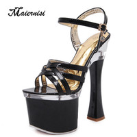 Wholesale silver e pipe resale online - MAIERNISI Steel Pipe Dance Stilettos Women High heels Sexy Platforms Sandals Shoes Model T Show Lady Superb High heeled Sandals