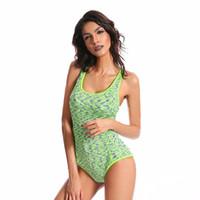 ingrosso bikini copre la pancia-Fashion Covered belly Slim Bikini da bagno stile sportivo per le donne Costume da bagno Beachwear Summer one piece Sexy Lady Swimsuit