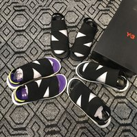 mavi kurutucu toptan satış-Yeni Bashyo Y-3 QASA Sandalet Sıcak Erkek Kadın siyah beyaz mavi kaymaz Çabuk kuruyan Açık terlik Yumuşak Su Plaj Sneakers Ayakkabı