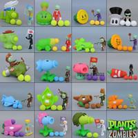 figura da planta zumbi venda por atacado-Plantas vs Zombies Peashooter PVC Action Figure Toy Modelo Brinquedos Presentes Para Crianças de Alta Qualidade Em Caixa de Pacote