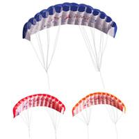 spielzeug elektrowerkzeuge großhandel-1 Stücke 30 mt Dual Line Parafoil Kite Regenbogen Sport Strand Kite Power Braid Segeln Kitesurf Fliegen Werkzeuge Outdoor Spielzeug